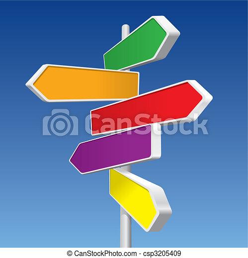 directionnel, (vector), signes - csp3205409