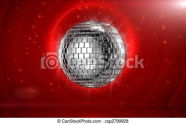 disco, boule roulante - csp2799928
