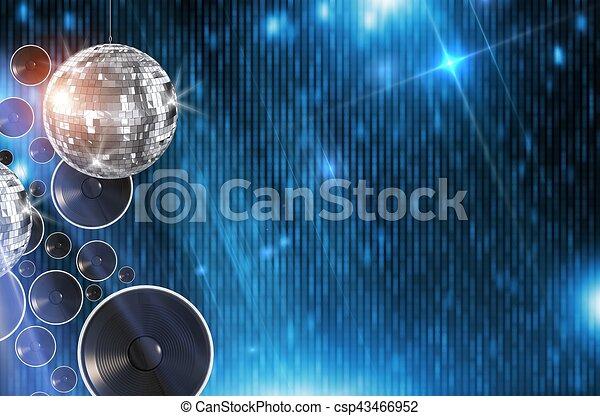 disco, fond, danse - csp43466952