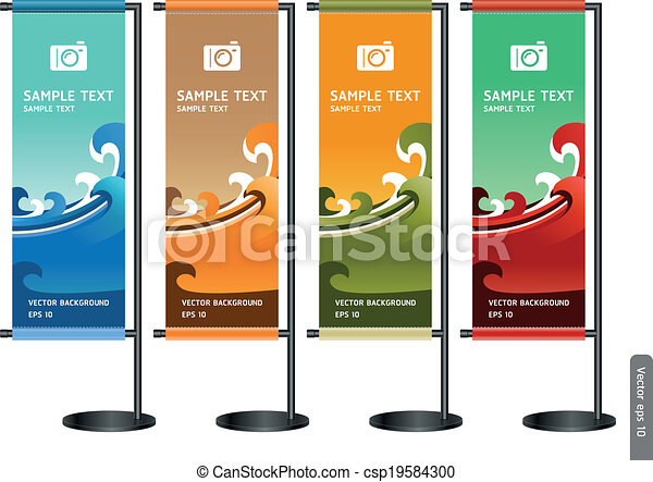 display., commercer, stand, exposition - csp19584300