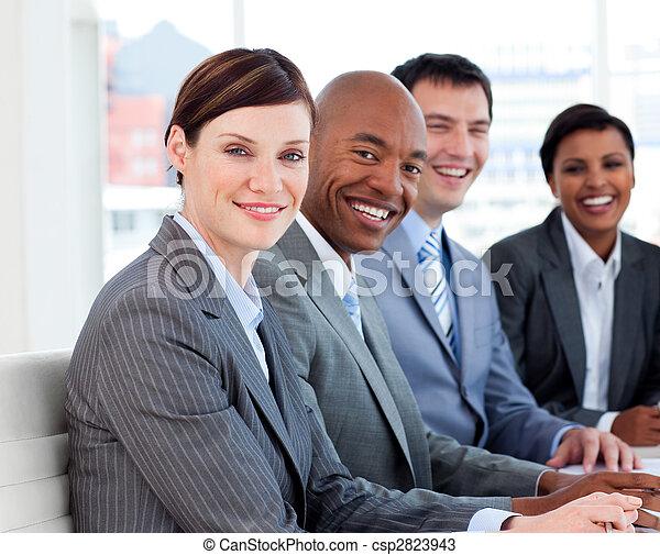 diversité, business, projection, groupe, ethnique, réunion - csp2823943
