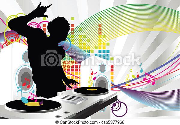 dj, musique - csp5377966