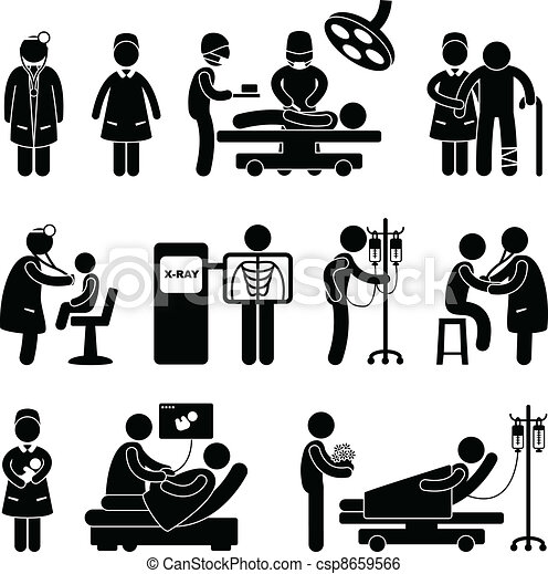 docteur, infirmière chirurgie, hôpital - csp8659566
