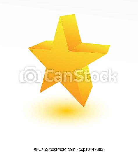 doré, blanc, étoile, 3d - csp10149383