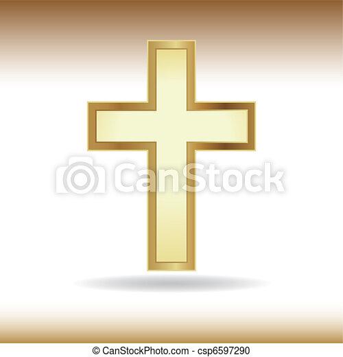 doré, croix - csp6597290