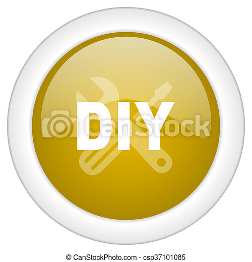 doré, toile, mobile, app, illustration, bouton, conception, bricolage, icône, rond, lustré - csp37101085