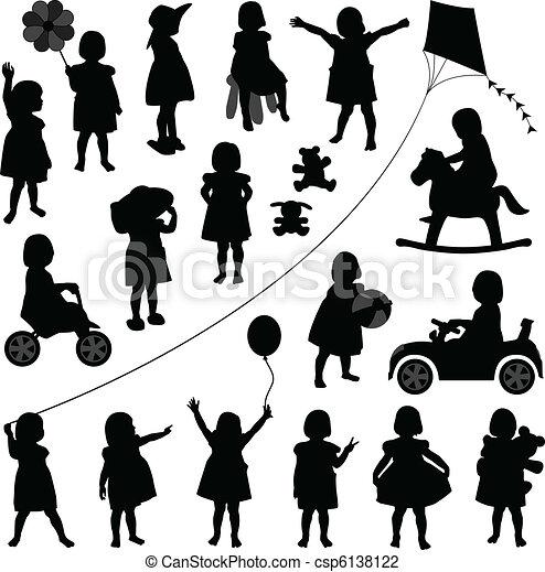 dorlotez fille, enfantqui commence à marcher, enfants, enfant - csp6138122