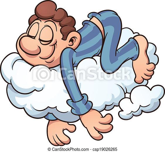 dormir, nuage - csp19026265