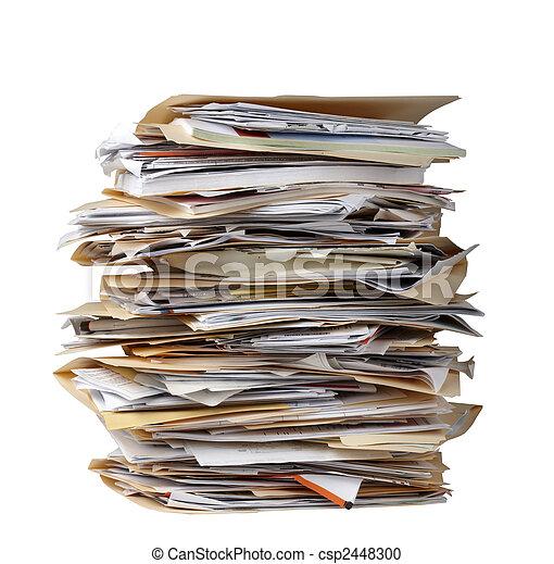 dossiers, pile, fichier - csp2448300