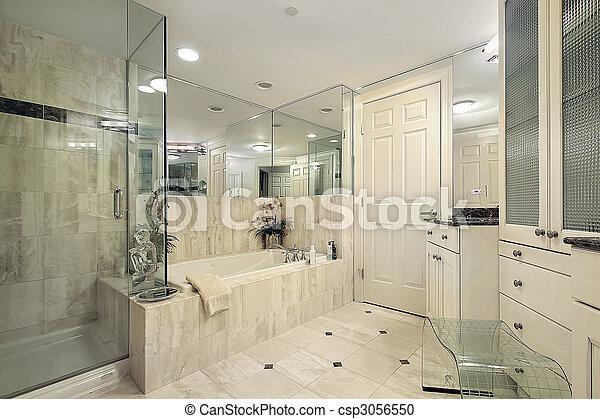 douche, verre, maître, bain - csp3056550