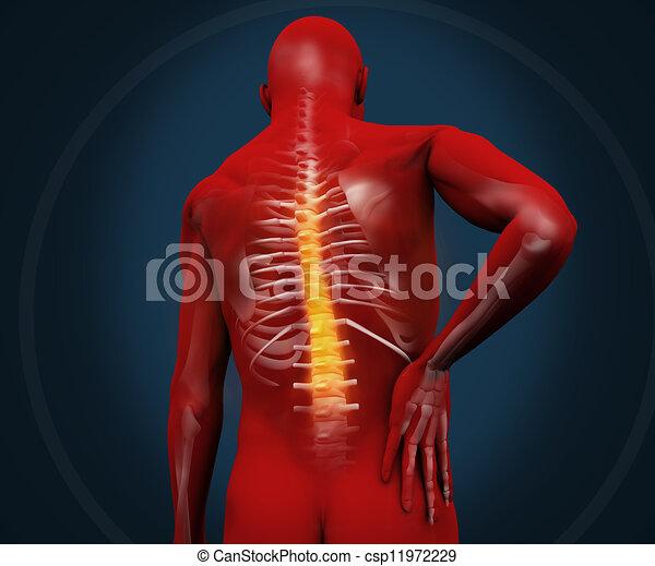 douleur, figure, avoir, numérique, rouges - csp11972229