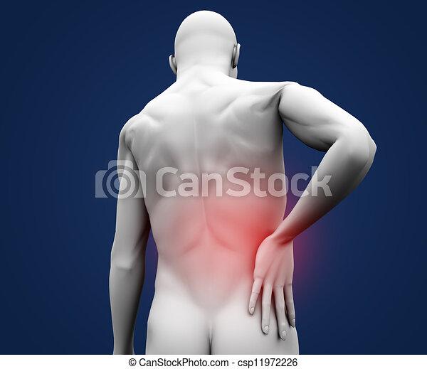 douleur, figure, numérique, avoir - csp11972226