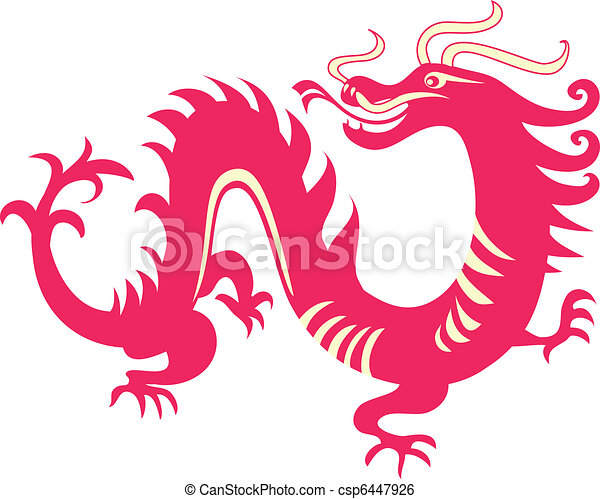 dragon, chinois - csp6447926