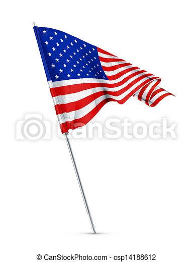drapeau américain - csp14188612