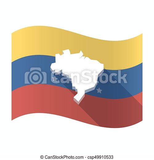 drapeau, carte, usa, venezuela, isolé - csp49910533
