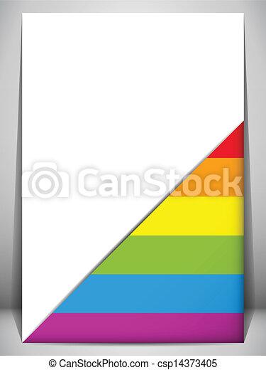 drapeau, fierté, gay, lettre, document - csp14373405