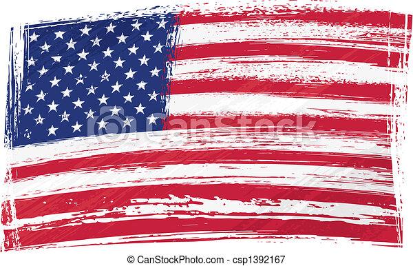 drapeau, grunge, usa - csp1392167