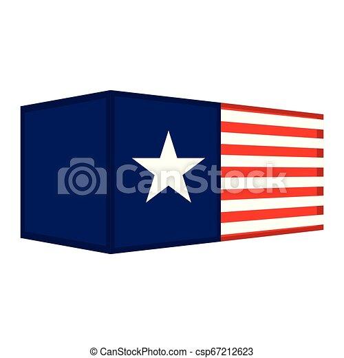 drapeau, récipient, usa - csp67212623