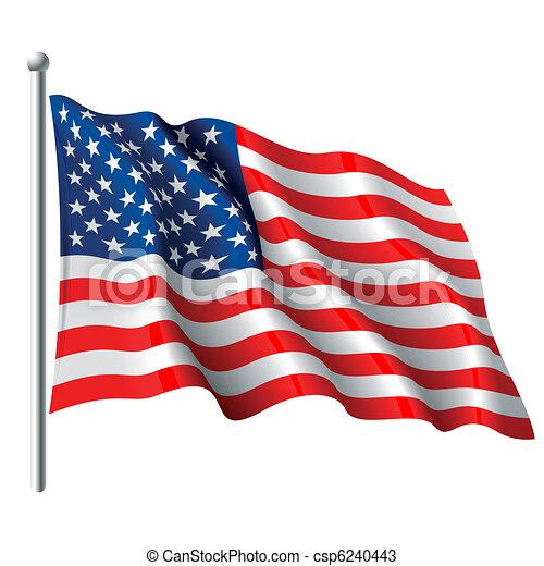 drapeau, usa - csp6240443