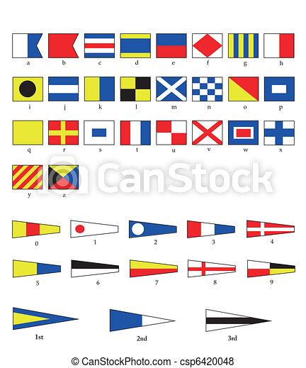 drapeaux, nautique - csp6420048