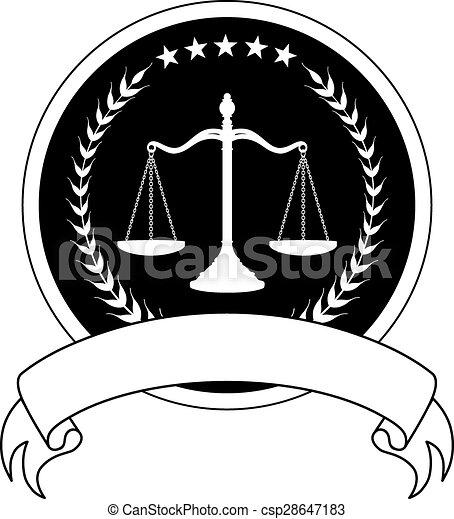 droit & loi, bannière, ou, avocat, cachet - csp28647183