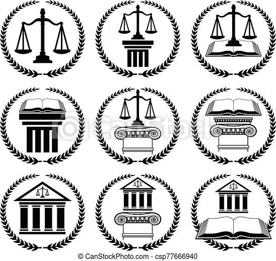 droit & loi, ensemble, avocat, cachet, ou - csp77666940