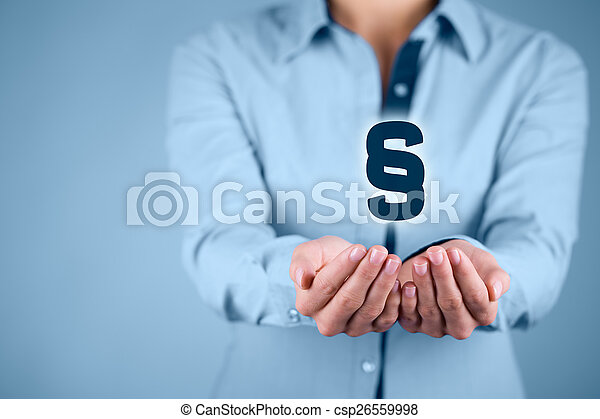 droits, protéger, avocat - csp26559998