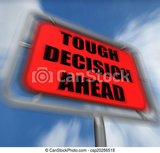 dur, devant, décision, incertitude, signe, affichages, cho, difficile - csp20286518