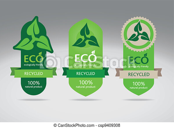 eco, recycler, étiquettes - csp9409308
