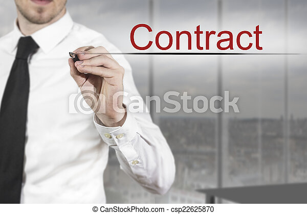 ecriture homme affaires, contrat, air - csp22625870