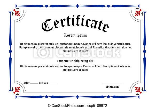 education, certificat - csp5109972