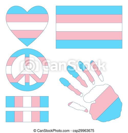 elements., transgender, fierté, conception - csp29963675