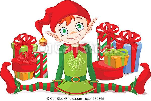 elfe, noël dons - csp4870365