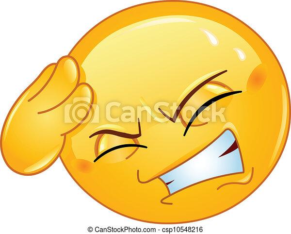 emoticon, mal tête - csp10548216