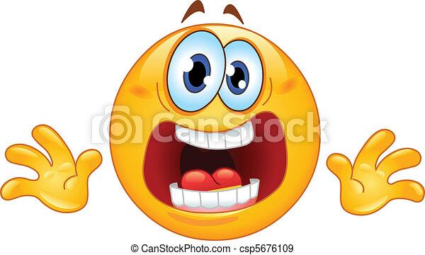 emoticon, panique - csp5676109