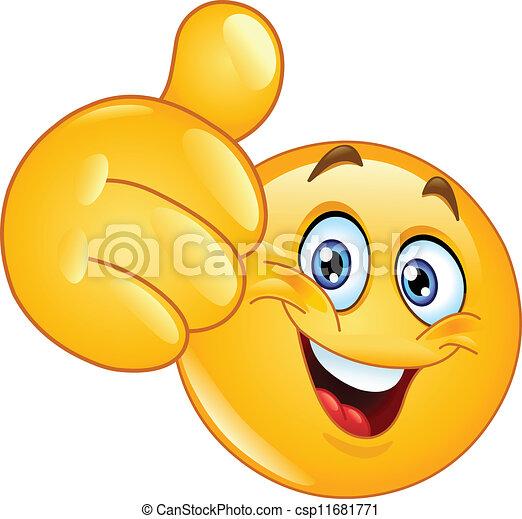 emoticon, pouce haut - csp11681771