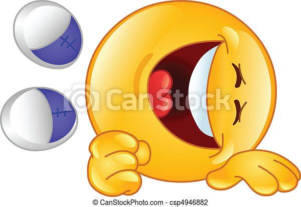 emoticon, rire - csp4946882