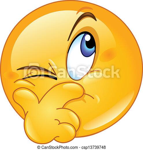 emoticon, suspecting - csp13739748