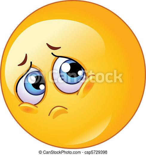 emoticon, triste - csp5729398