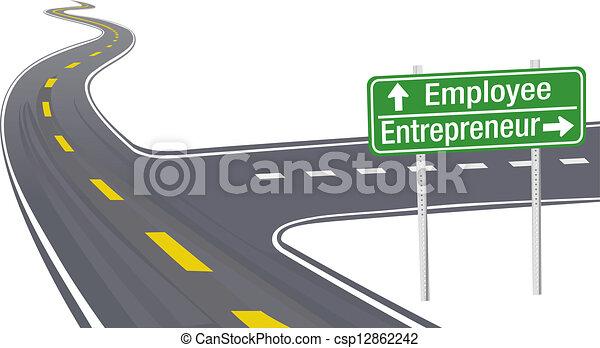 employé, entrepreneur, décision, affaires signent - csp12862242