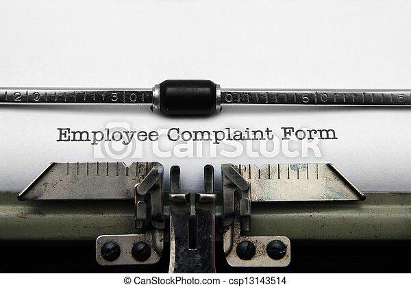 employé, plainte, formulaire - csp13143514