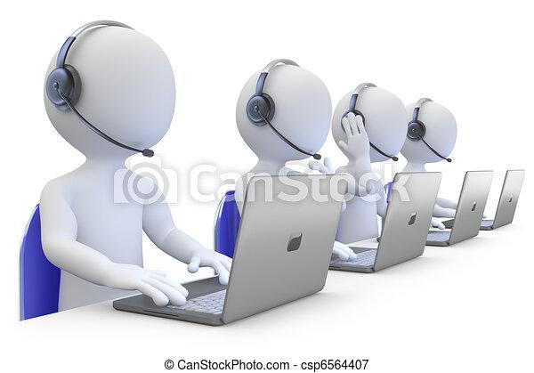 employés, téléopérateur, fonctionnement - csp6564407