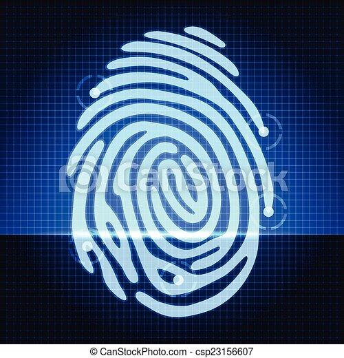 empreinte doigt - csp23156607