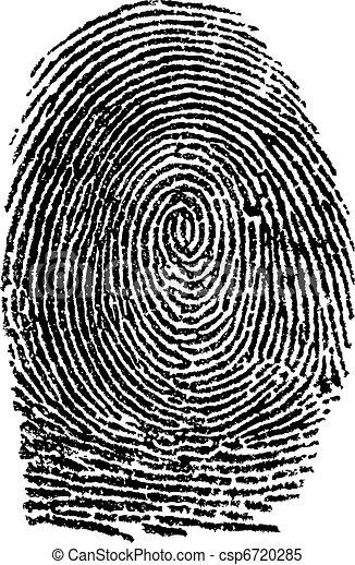 empreinte doigt - csp6720285