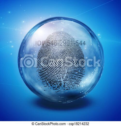 empreinte doigt - csp18214232