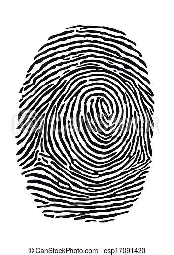 empreinte doigt - csp17091420