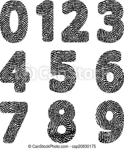 empreinte doigt - csp20830175