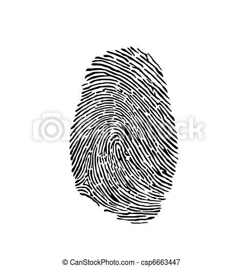 empreinte doigt - csp6663447