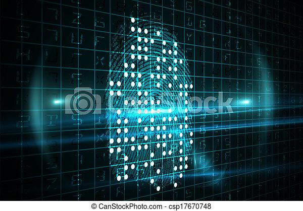 empreinte doigt, numérique - csp17670748