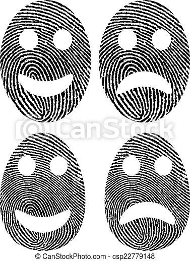 empreinte doigt - csp22779148
